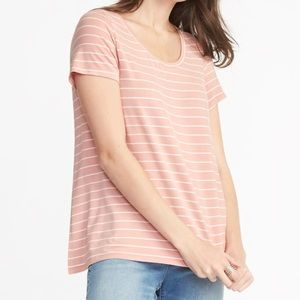 Striped Blush Old Navy Luxe Shirt